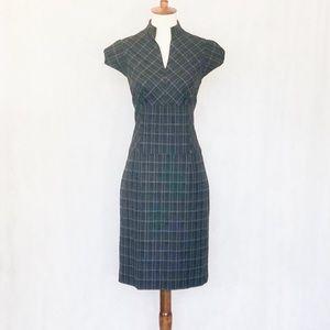 Antonio Melani Grey Plaid Cap Sleeve Dress